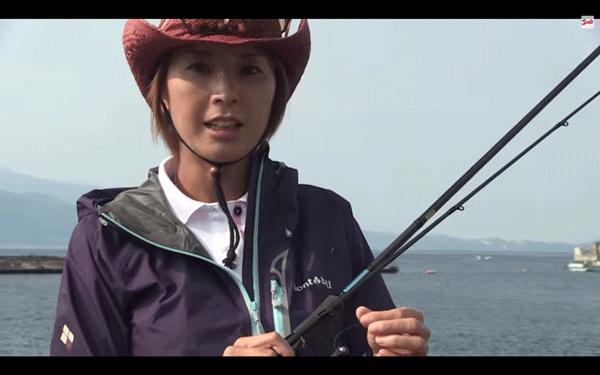 児島玲子がエギング実釣&タックルを解説(動画)
