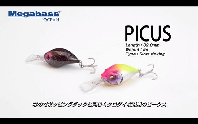 ピークス(メガバス)の使い方と特徴を実釣解説(動画)黒鯛専用クランク