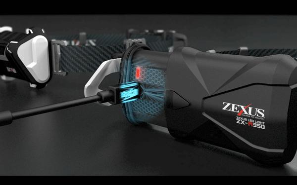 ゼクサス「ZX-R350/ZX-R700/ZX-R260」はUSB充電式でより軽くより明るく001