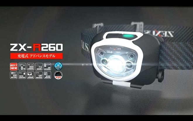 ゼクサス「ZX-R350/ZX-R700/ZX-R260」はUSB充電式でより軽くより明るく